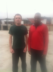 Me with Brahim after we put in some track time.